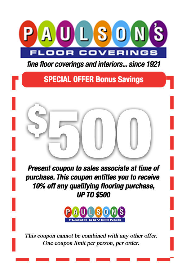 Paulson S Would Like To Thank You For Visiting Our Web Site By Offering These Internet Only Special Savings